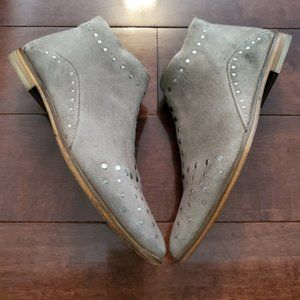 Free People Suede Studs Booties Women's Size 38